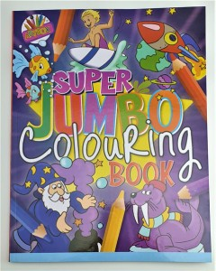 Super Jumbo Colouring Book Red