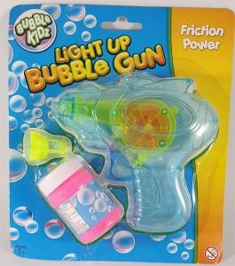 Light Up Friction Bubble Gun Blue