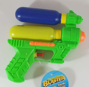 Water Gun Green double tank 14cm