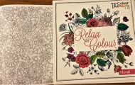 Relax Colouring Book Floral
