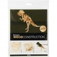 3D Wooden Construction Kit Dinosaur