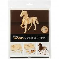 3D Wooden Construction Kit Horse