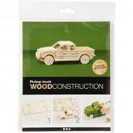 3D Wooden Construction Kit Truck
