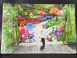 120 piece personalised Jigsaw Puzzle A4