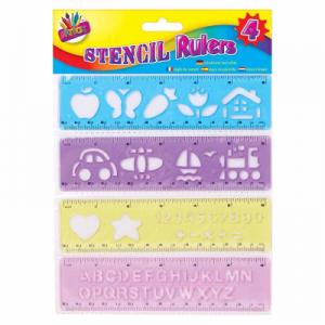 4 Pack Stencil Ruler
