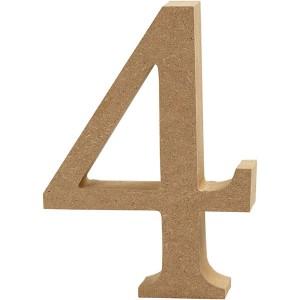 MDF wood number 4 8cm