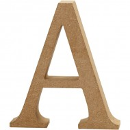 MDF wood letter A 8cm