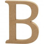 MDF wood letter B 8cm