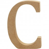 MDF wood letter C 8cm
