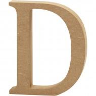 MDF wood letter D 8cm