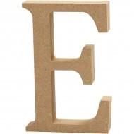 MDF wood letter E 8cm