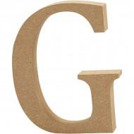 MDF wood letter G 8cm