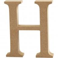 MDF wood letter H 8cm
