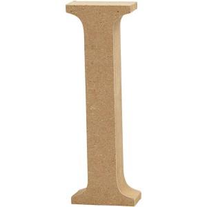 MDF wood letter I 8cm