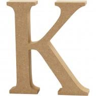 MDF wood letter K 8cm