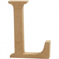 MDF wood letter L 8cm