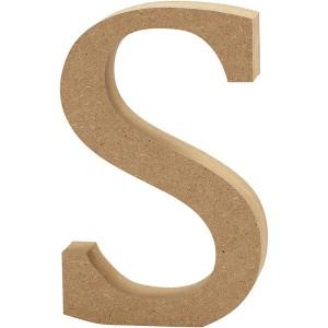 MDF wood letter S 8cm
